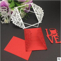 Wholesale Marriage Card Decoration - Metal Cutting Dies Stencil DIY Scrapbooking Embossing Album Paper Card Craft Top Quality DHL Free Shipping