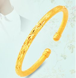 Wholesale 18k Gold Bracelet Thin - thin 5mm Gold round open Bangle For girls women wedding Jewelry stars Gun Plated bracelets & bangles Wholesale