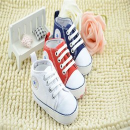 Wholesale Infant Pink Canvas Shoes - New Baby Shoes Fashion Non-slip soft bottom Baby Infant First Walker Shoes 6 color C494