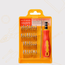 Wholesale Pc Tablets Set - 32 in 1 Multifunction TP-6032D Interchangeable Magnetic screwdriver Set Computer phone tablet pc precise manual tool set