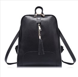 Wholesale Oem Soft - Tassel Backpacks PU Leather Backsack High Fashion Double Shoulder Bags for Women Factory OEM Price School Bag
