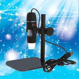 Wholesale Endoscope Lead - Wholesale- Practical Electronics 5MP USB 8 LED Digital Camera Microscope Endoscope Magnifier 50X~500X Magnification Measure