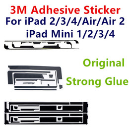 Wholesale Iphone 3m Adhesive Sticker - Pre-Cut 3M Adhesive Strip Double Side Tape Sticker Strong Glue For ipad 2 3 4 mini Air Touch Screen Digitizer Black Repair Parts