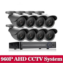 Wholesale 8ch H 264 - CCTV System 8CH 1080P 1080N AHD HDMI H.264 CCTV DVR+8 X 1.3MP 960P 2500TVL Waterproof Outdoor Security Cameras CCTV 8CH AHD Kit