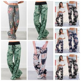 Wholesale clothing wholesalers maternity - 5 Styles New Parent Child Clothing Lady Floral Striped Cotton Yaga Long Trousers Plus Wide Leg Pants Maternity Supplies CCA7383 100pcs