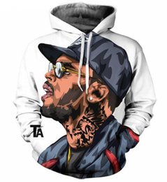 Wholesale Cartoon Hoodie - New Fashion Couples Men Women Unisex Cartoon Characters Singer Chris Brown 3D Print Hoodies Sweater Sweatshirt Jacket Pullover Top S-5XL
