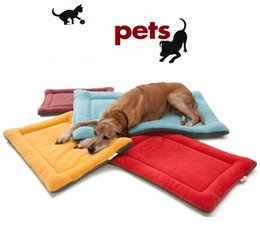 Wholesale Fiber Fleece - High Grade Soft Polar Fleece Cozy Pet Dog Crate Mat Kennel Cage Pad Bed Pet Cushion 6 Colors p99