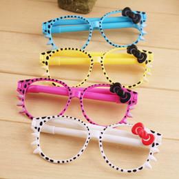 Occhiali penna Corea del Sud creativo cancelleria premi scuola primaria Bella penna a sfera personalità all'ingrosso cheap korean glasses da occhiali coreani fornitori