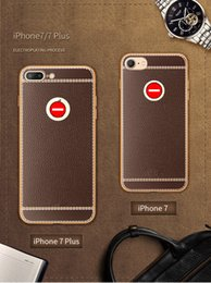 Wholesale Limited Phone - time-limited dark brown litchi pattern tpu case for iphone 5 se 6 6s 7 7plus full package soft shell new mobile phone cover
