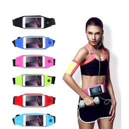 Wholesale Iphone Cases Bags - Waterproof Phone Case Outdoor Running Hiking Sport Water Resistant Waist Bag For iPhone X 8 7 Plus Samsung S8 Plus Note 8 Inch Pocket