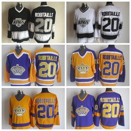 Argentina Old Time Los Angeles Kings Hockey Jersey # 20 Luc Robitaille Jersey Vintage LA KINGS Luc Robitaille Stitch Mens Hockey Jerseys S-XXXL supplier robitaille jersey Suministro