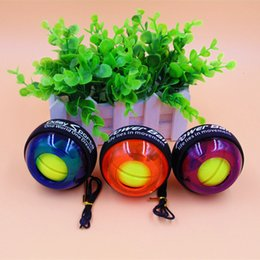 2019 pelotas de goma para gimnasia Gimnasio LED Muñequera Rodillo de bola Giroscopio Fortalecedor de fuerza Yoyo Bolas de mano Entrenamiento de muñeca Ejercicio Equipo deportivo