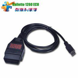 Wholesale Best Ecu Flasher - Wholesale- 2016 Best Quality Galletto 1260 ECU Flasher OBD2 ECU Chip Tuning Interface EOBD 1260 Programmer Read & Write Car ECU In Stock