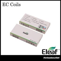 Bobinas ec on-line-A cabeça original do EC 0.25ohm da CE da cabeça 0.3ohm 0.5ohm do EC de Eleaf dirige 0.80ohm bobinas ECML da cabeça 0.18ohm do ECL da cabeça de EC de Eleaf para o tanque do Melo 3 do atomizador 2 do iJust 2