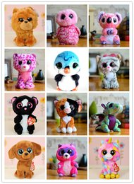 Wholesale Cute Big Teddies - Kids Birthday Gifts Soft Plush Ty beanie boos Big Eyes Stuffed Animals Toys Cute Kawaii Doll