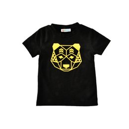 Wholesale Golden Printed Top Tee - Newest Boys Childrens T-shirts Boy Kids tshirts Summer Short Sleeve Tshirts Golden Cartoon Print Tees Boutique Enfant Tops Clothes