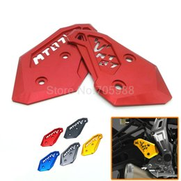 Wholesale Rearset Pegs - High Quality For Yamaha MT-07 2014 2015 MT07 Rearset Foot Peg Mount Heel Plates Guard Protector 5 Colors