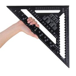 Règle triangulaire noire de règle de triangle d'alliage d'aluminium de 43X30X30cm ? partir de fabricateur