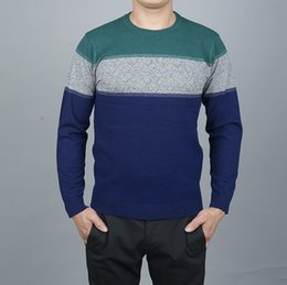 Wholesale Retro Mens Sweaters - Wholesale- 2016 New Retro Decorative Buttons Veneer Chest Korean Men Cultivating Long-Sleeved Man Sweater Mens Pullovers