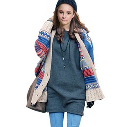 Wholesale Types Women Sweaters - Wholesale- Promotions Women's Knitting Sweater Coat Cloak Type V-neck Bat Sleeve 2016 Fashion Autumn Casual Cardigan Shawl Free Size