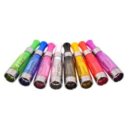 Wholesale Ego T Long Wick - eGo Ce4 Atomizer 1.6ml e Cig Clearomizer Cartomizer for eGo-T, eGo-C, eGo-W and 510 Thread eGo-CE4 8 Colors Long Wick Vaporizer Cartridges