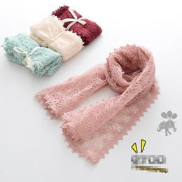 Wholesale Embroidered Lace Scarfs - 2017 new Autumn Winter Fashion Korean Children Scarves lace Scarf embroider Girls Scarf baby Cape Kids Scarves Toddler Scarves A1011