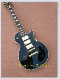 Wholesale China Rosewood - New Custom Electric Guitar black Electric guitar Rosewood fingerboard wholesale guitars from china