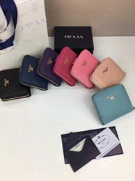 Wholesale Imports Europe - Europe and the United States fashion brand purse top quality imported Genuine Leather mini small wallet popular zipper purse
