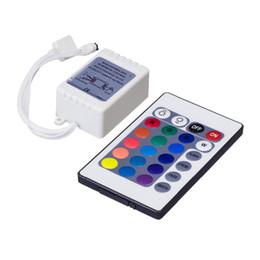 Wholesale Ir Light Bar - 12V 44Key LED Light Strip Remote Controller RGB Colorful Light Bar IR Controller 5050 SMD LED Strip Remote Controller