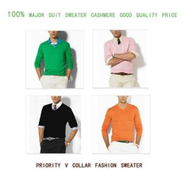 Wholesale High Quality Mens Pullover - free SHIPPING High quality hot sell Winter Sweater Men v-neck Casual Knit Jumpers Sweaters Mens Long Pullovers Famous Brand