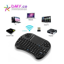 Wholesale Arabic Ipad - AAA Quality i8 Mini Wireless Keyboard Touch Pad Air Mouse for PC Laptop iPad Android TV BoxHebrew Arabic English Russian Spanish Italian