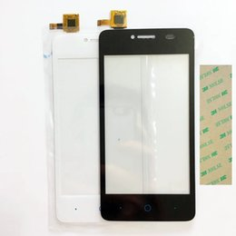 Wholesale Replacement Touch Screen Panel Zte - Wholesale- Black Color Touchscreen For ZTE Blade AF3 T221 A5 Pro Glass Digitizer Front Outer Touch Panel Replacement Full Track NO. +Tape