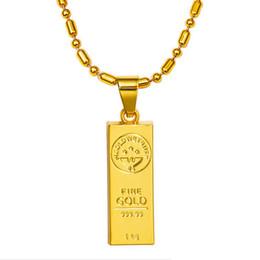 Wholesale Men Wearing Necklaces - GOLD WE TRUST Pendant Necklace Hip Hop Chain Golden Bars Pendants Necklaces Jewelry For Rapper dancer DJ Rock Women Men Wearing