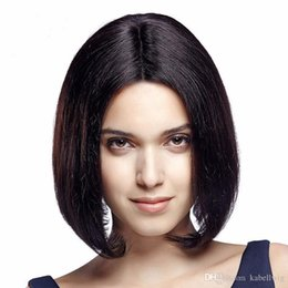 Wholesale Brazil Indians - Human Hair Full Lace Wig Bob Is Short in FULL LACE WIGS Wig Bob Wig 100% Cordon Of Human Hair In Front Of Brazil Virgin Hair 100% Jews Wigs
