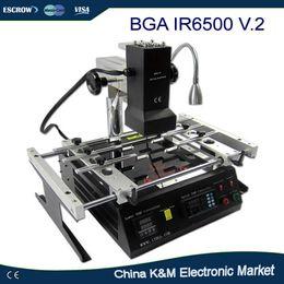 Wholesale Reballing Solder - Wholesale- Russian Tax-free shipping LY IR6500 V.2 IR BGA rework station soldering system Infrared reballing machine