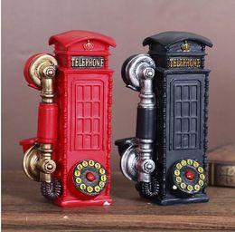 Wholesale Desktop Telephones - British wind Resin Telephone Booth ornament crafts Handicrafts furnishing articles Desktop decoration