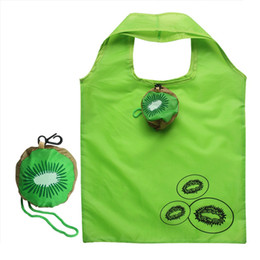 Wholesale Recycle Polyester - Wholesale- 2017 shopping bags cute Kiwi fruit folding handbag grocery recycle storage polyester bag simple design tote bag item organizer