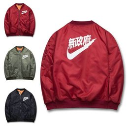 Wholesale Red Military Jackets - New 2017 Nasa Jacket Men Thin Thick Long Sleeves Military Motorcycle Flight Jackets Pilot Air Force Man Bomber Jacket Coats