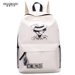 Wholesale One Piece Shoulder Bag - Wholesale- 2017 New Fashion One Piece Luffy School Bags Anime Bookbag Chirdren Teenagers Backpack Men Women Shoulder Bag