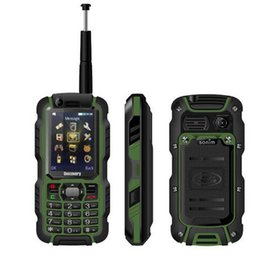 Wholesale Dual Screen Gsm Mobile Phone - Original Discovery A12i A12 IP67 Waterproof Phone UHF Walkie Talkie Rugged GSM Mobile Phone 2.4 Inch Screen Supports Analog TV rugid