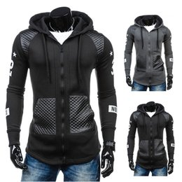 Wholesale Wholesale Leather Jackets Clothing - Wholesale- KLV Brand Clothing Slim Mens Coat Casual Cotton Leather Winter Warm Hooded Sweatshirt Coat Jacket Outwear jaqueta masculina 2016