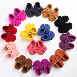 Wholesale Toddler Girl Feet - Spring and autumn new baby boy girl shoes 0-1 year old soft bottom tassel leisure feet baby kids toddler shoes Non-slip First Walker
