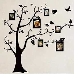 Wholesale Printing Photos Metal - Wholesale- A31 Large Size Free shipping new arrival PVC Photo Frame trees wall stickers living room bedroom wall decor decals VB351 P
