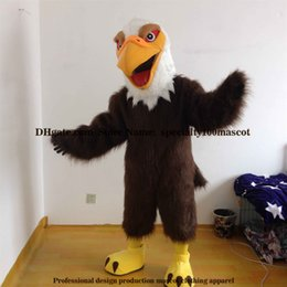 Wholesale Bird Costume Adults - High quality carnival adult eagle mascot costume free shipping,Real pictures deluxe party bird hawk, falcon mascot costume factory direct