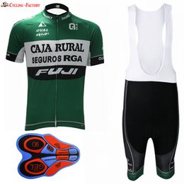 Wholesale Cycle Clothing Kits - 2017 CAJA RURAL Cycling Jerseys and bib shorts kit Ropa Ciclismo Breathable Bike Clothing Quick-Dry Bicycle Sportwear Ropa Ciclismo GEL Pad