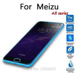 Wholesale Meizu M2 - Wholesale- HD tempered glass For Meizu All series M2 MX3 MX4 pro MX5 MX6 PRO5 PRO6 M1 M3 note metal screen protector glass film Ultra-thin