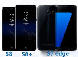 Wholesale Dual Quad Core Phone - goophone s8 plus phone s7 edge Android 6.0 smartphone 64bit cell phones Show MTK6592 Octa Core 3gb ram 64gb rom Fake 4g lte dual Sim dhl