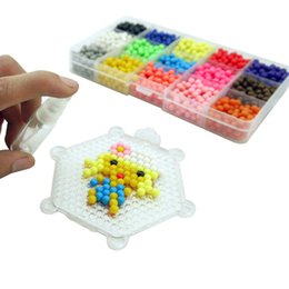 Wholesale Magic Water Beads Wholesale - 1800pcs 15 Colour DIY Water Sticky Magic Beads Pegboard Complete Set Fuse Beads Jigsaw Puzzle Water Beadbond Educational Diy Toys
