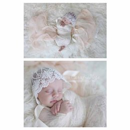 Wholesale Lace Sun Hat Girls - Baby Lace Hats Newborn Sun Hat Pincess Hat Embroidered Summer Infant Bucket For Kid Photography Prop