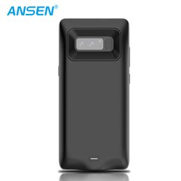 Wholesale banks usa - Hot selling in USA 5500mAh high capacity battery case FOR galaxy note 8 slim power bank charger cover case